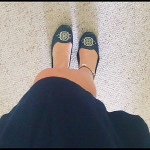 Christian Siriano Shoes - Christian Siriano Blue flats with Silver buckle